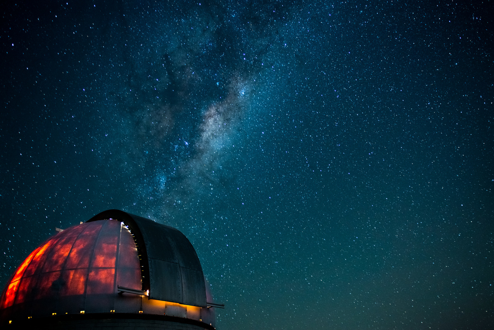MBO dome with Milky Way in background