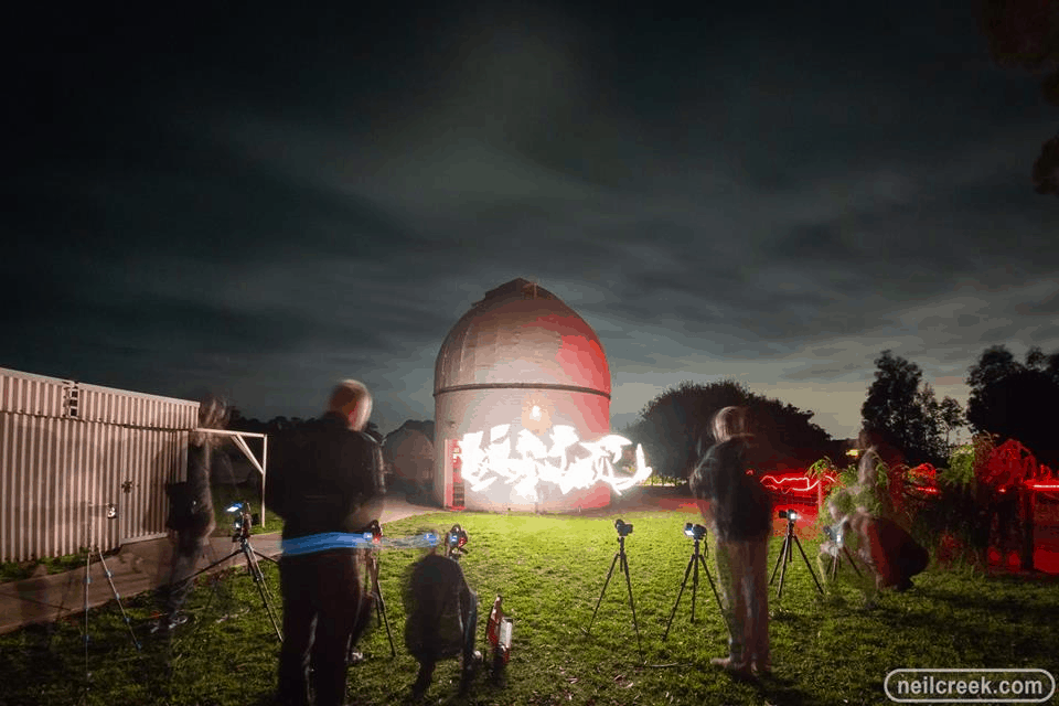 Picture of the observatory at night